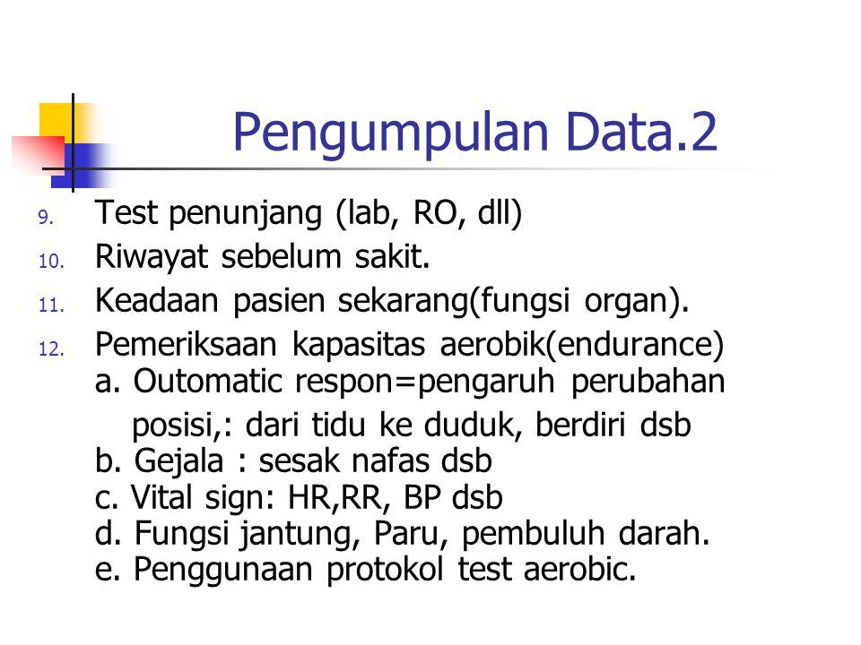 Pengumpulan Data.2 Test penunjang (lab, RO, dll)