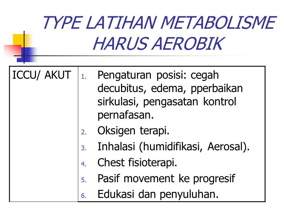 TYPE LATIHAN METABOLISME HARUS AEROBIK
