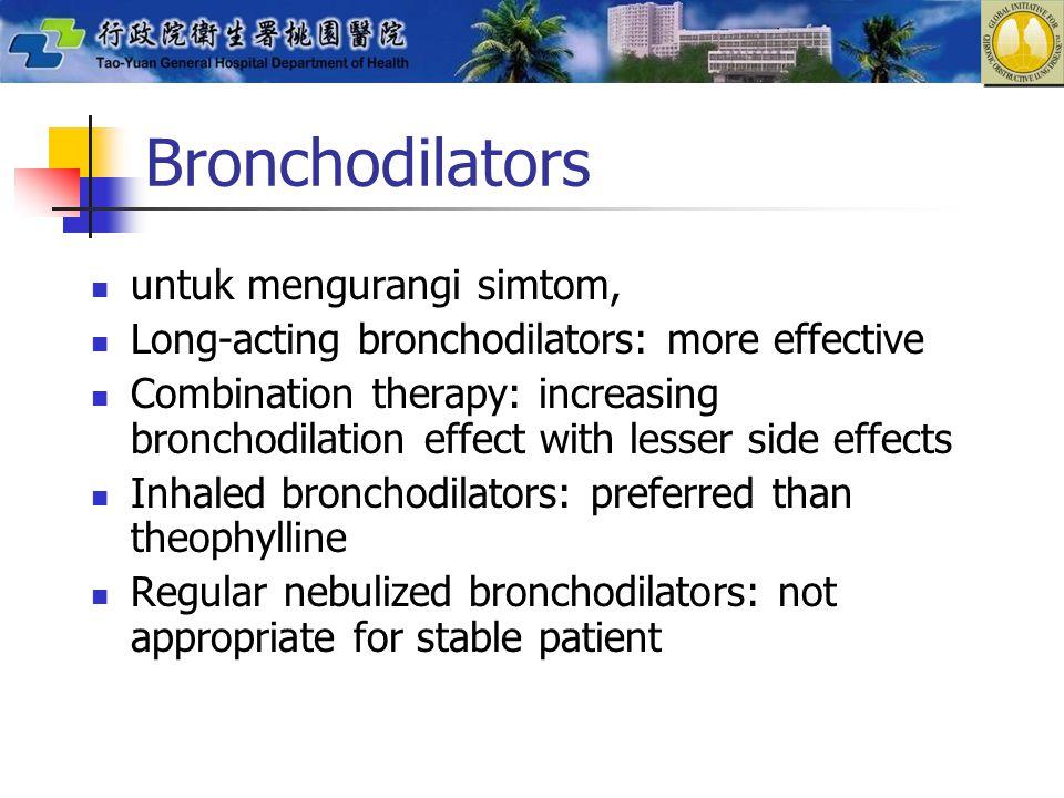 Bronchodilators untuk mengurangi simtom,