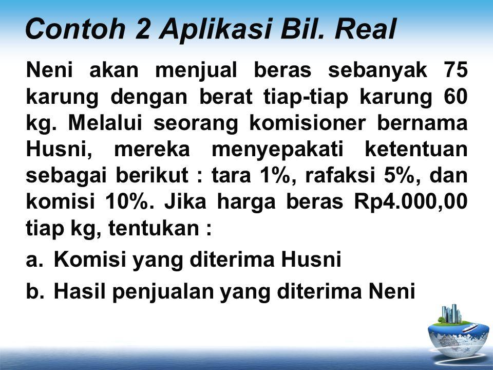 Contoh 2 Aplikasi Bil. Real