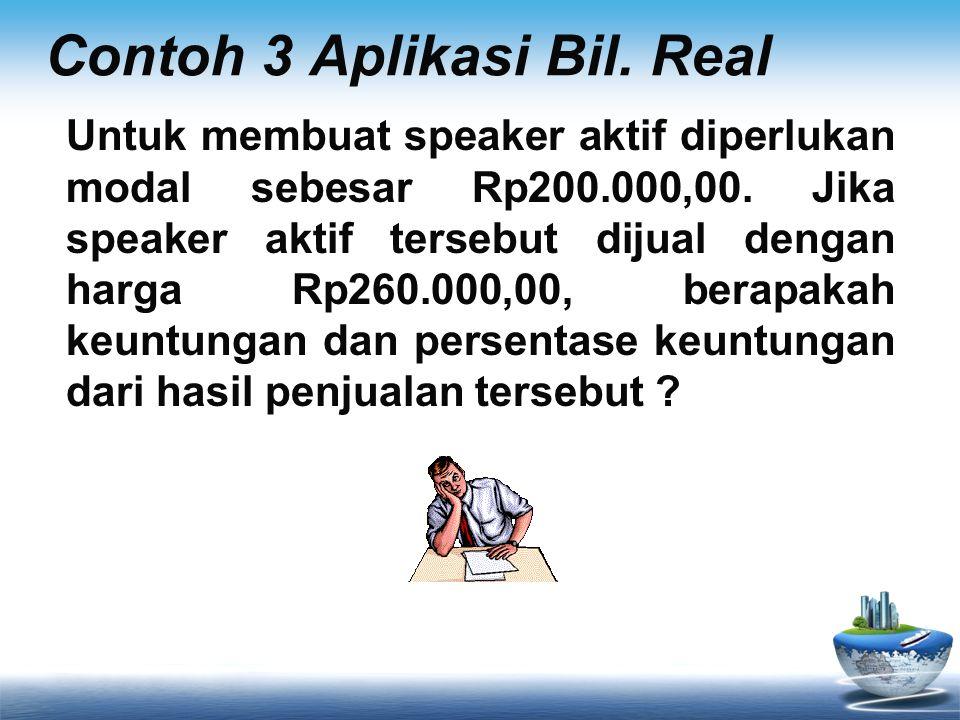 Contoh 3 Aplikasi Bil. Real