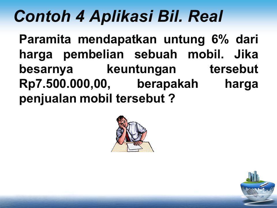 Contoh 4 Aplikasi Bil. Real