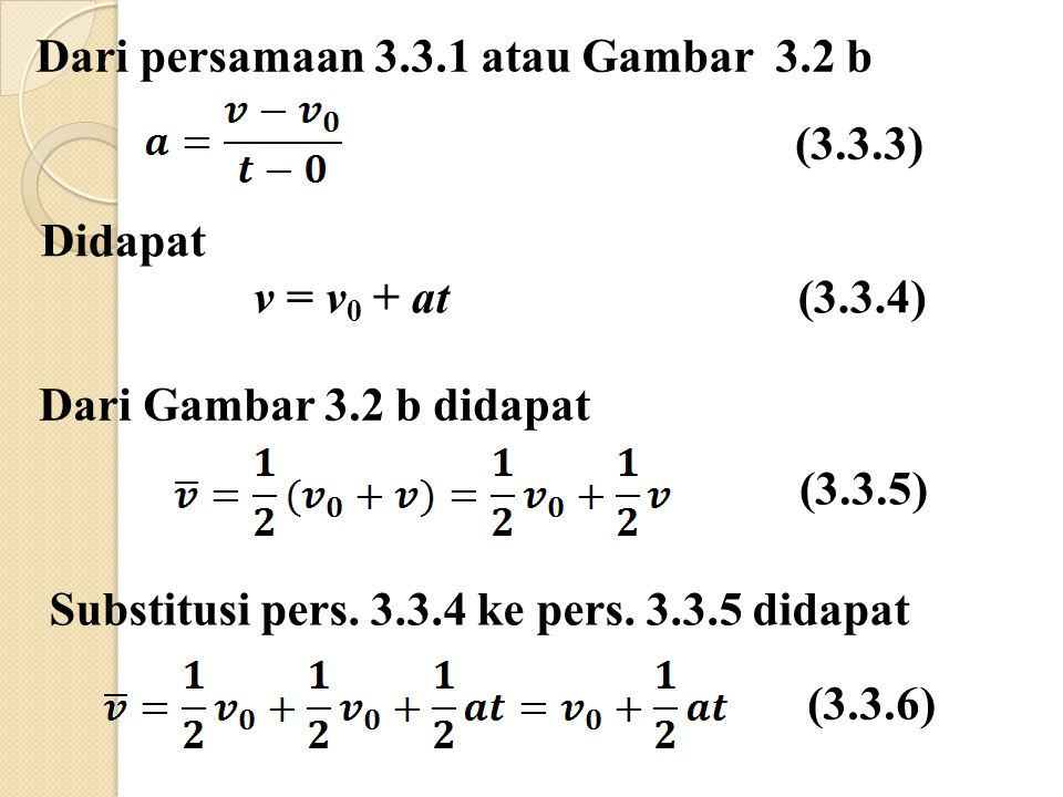 Dari persamaan 3.3.1 atau Gambar 3.2 b