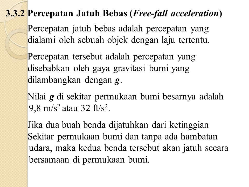 3.3.2 Percepatan Jatuh Bebas (Free-fall acceleration)