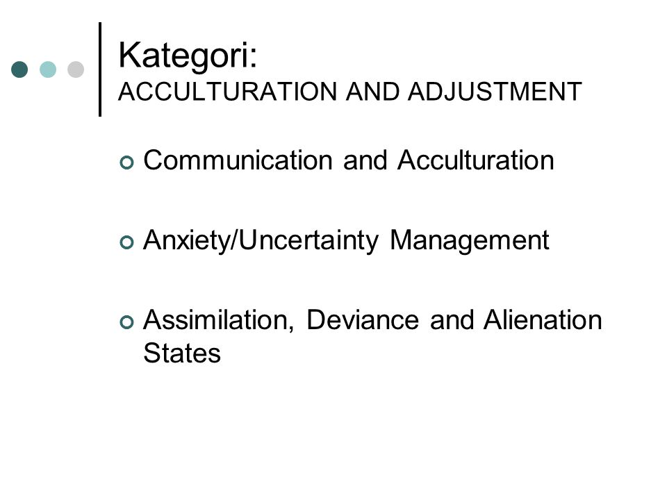 Kategori: ACCULTURATION AND ADJUSTMENT
