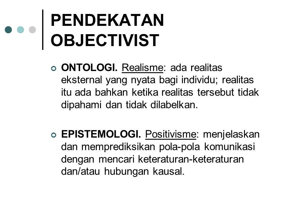 PENDEKATAN OBJECTIVIST