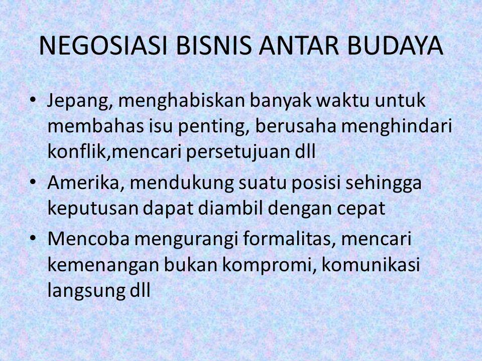 NEGOSIASI BISNIS ANTAR BUDAYA