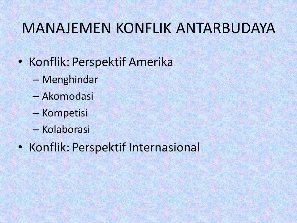 MANAJEMEN KONFLIK ANTARBUDAYA