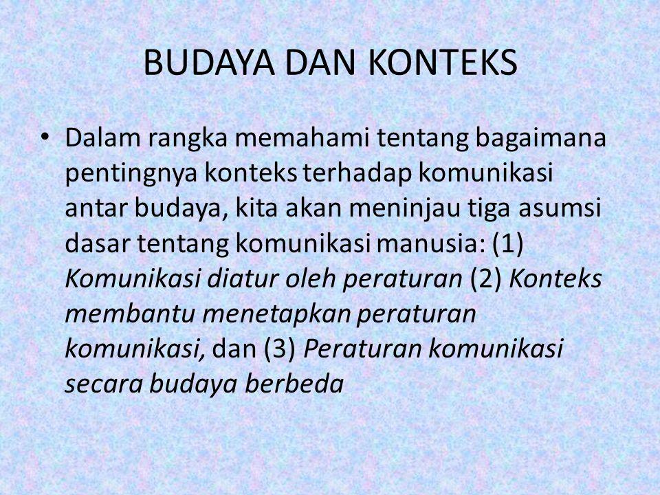 BUDAYA DAN KONTEKS