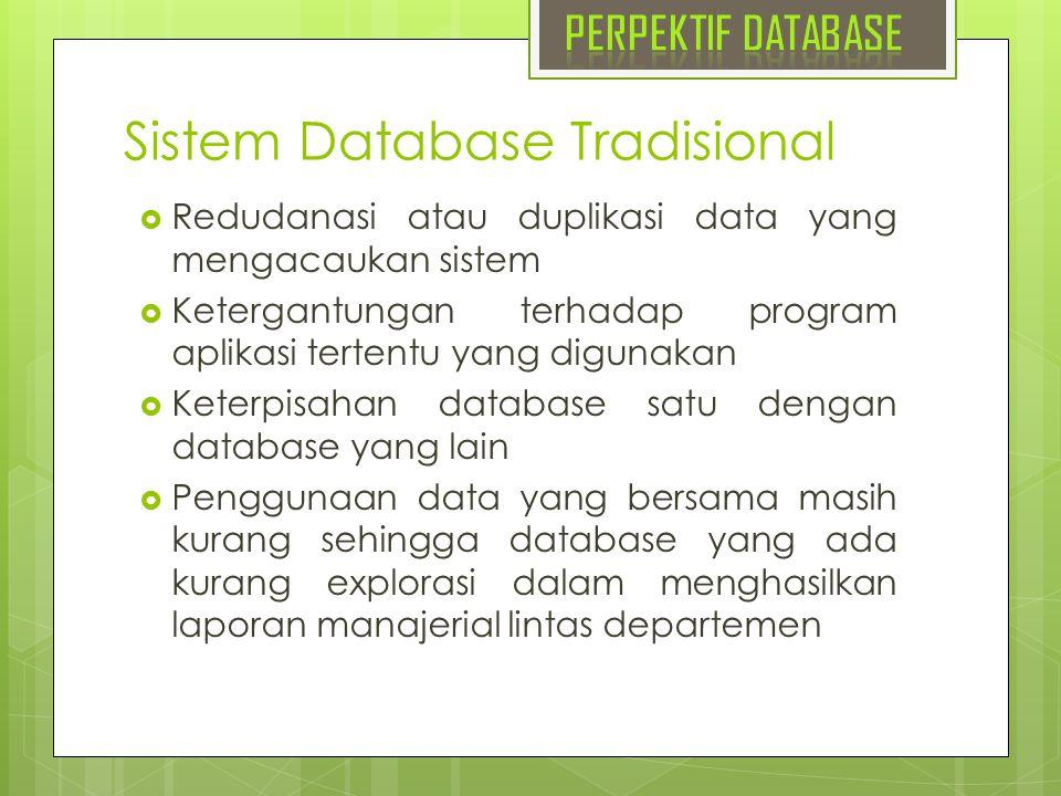 Sistem Database Tradisional