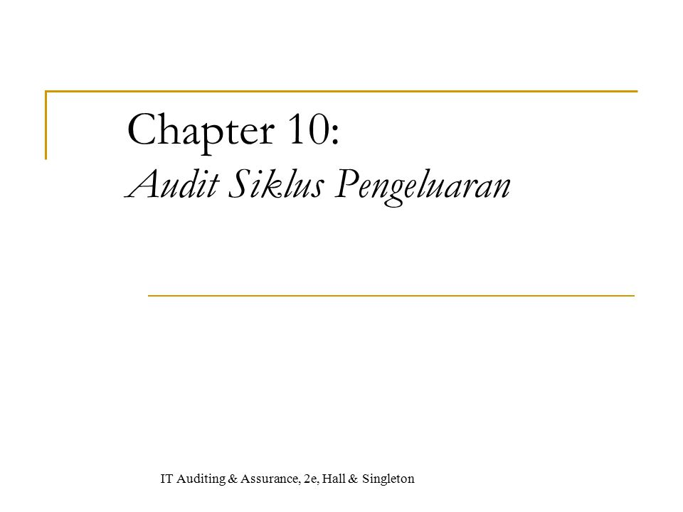 Chapter 10: Audit Siklus Pengeluaran