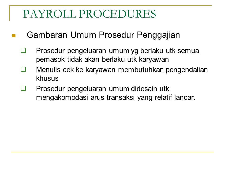PAYROLL PROCEDURES Gambaran Umum Prosedur Penggajian
