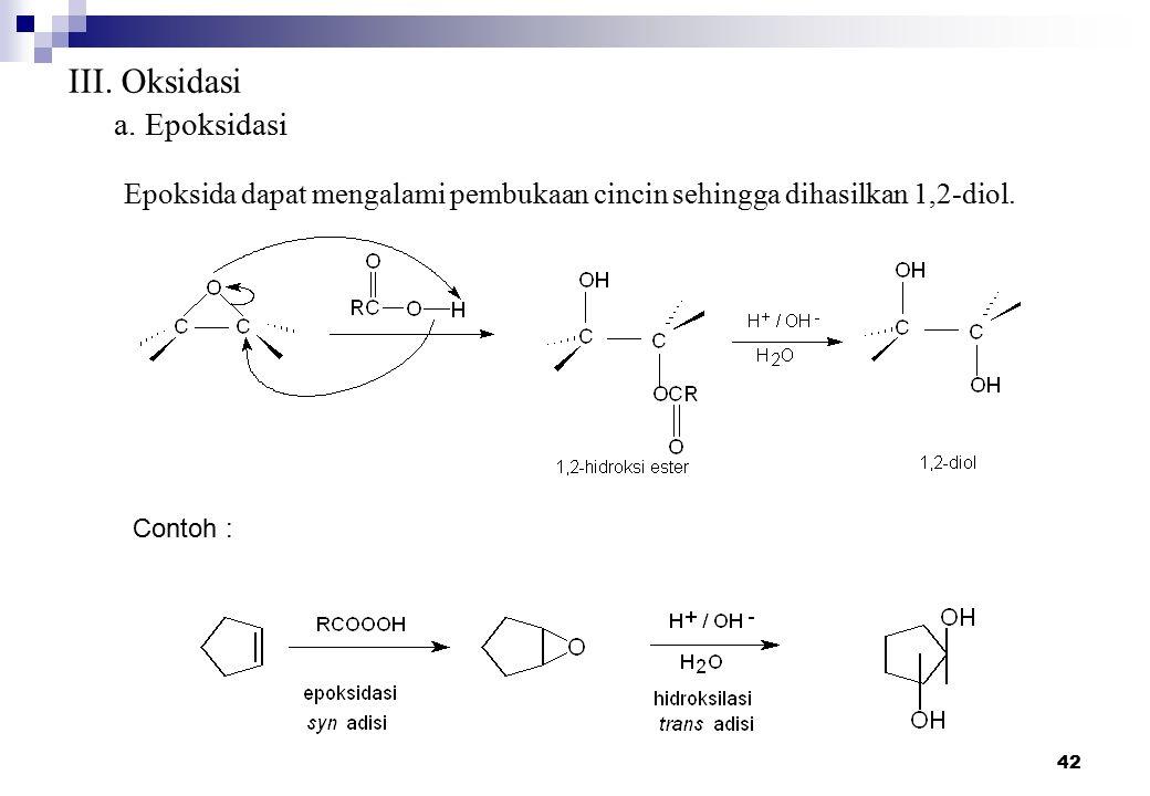 III. Oksidasi a. Epoksidasi