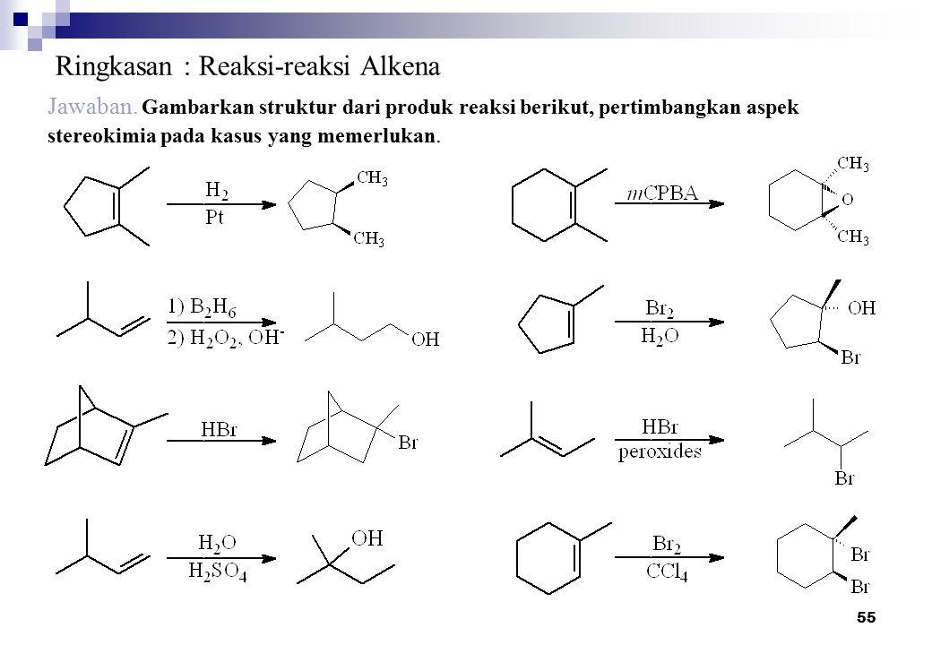 Ringkasan : Reaksi-reaksi Alkena
