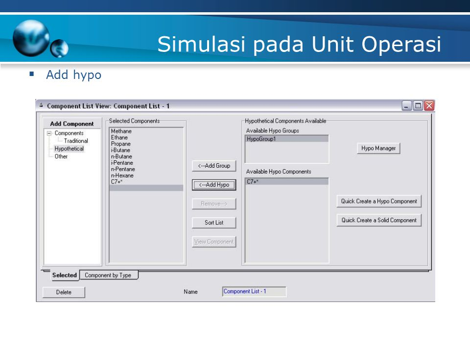 Simulasi pada Unit Operasi