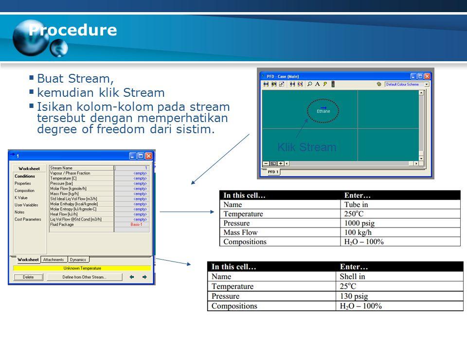 Procedure Buat Stream, kemudian klik Stream
