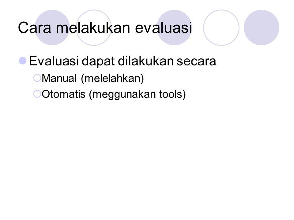 Cara melakukan evaluasi