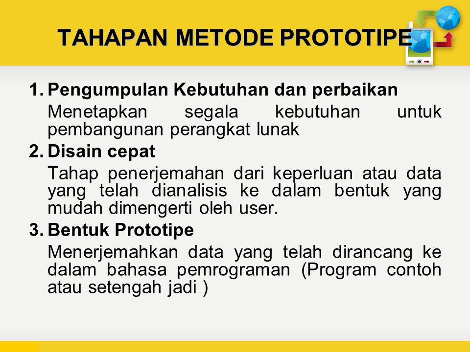 TAHAPAN METODE PROTOTIPE