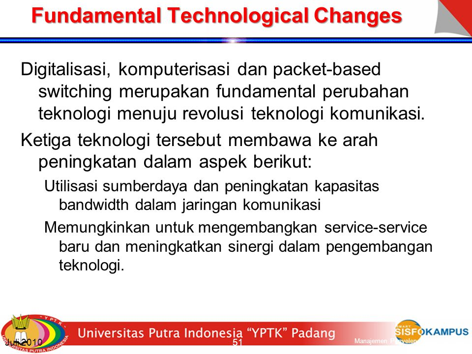 Fundamental Technological Changes