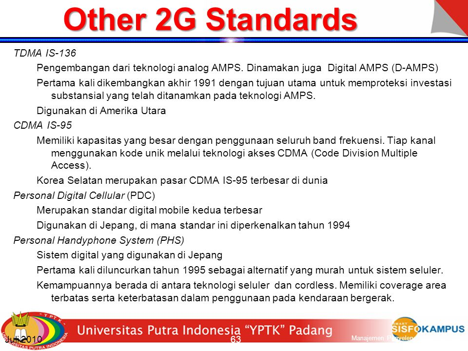 Other 2G Standards