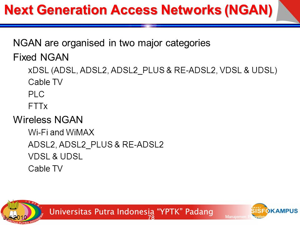 Next Generation Access Networks (NGAN)