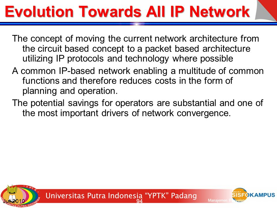 Evolution Towards All IP Network