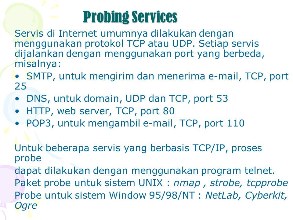 Probing Services