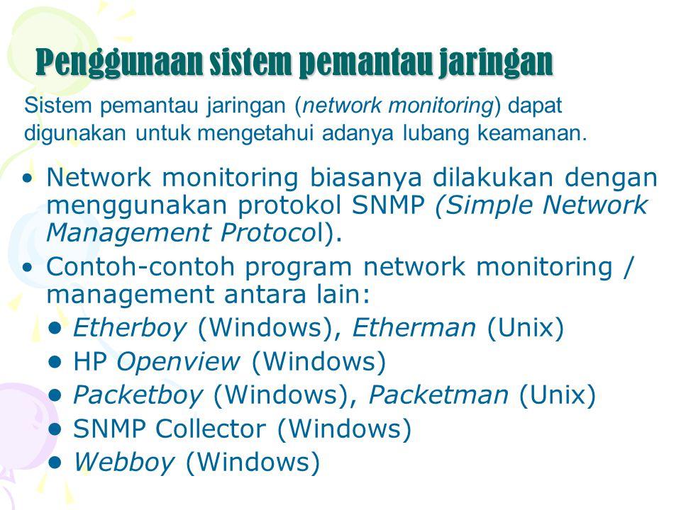 Penggunaan sistem pemantau jaringan
