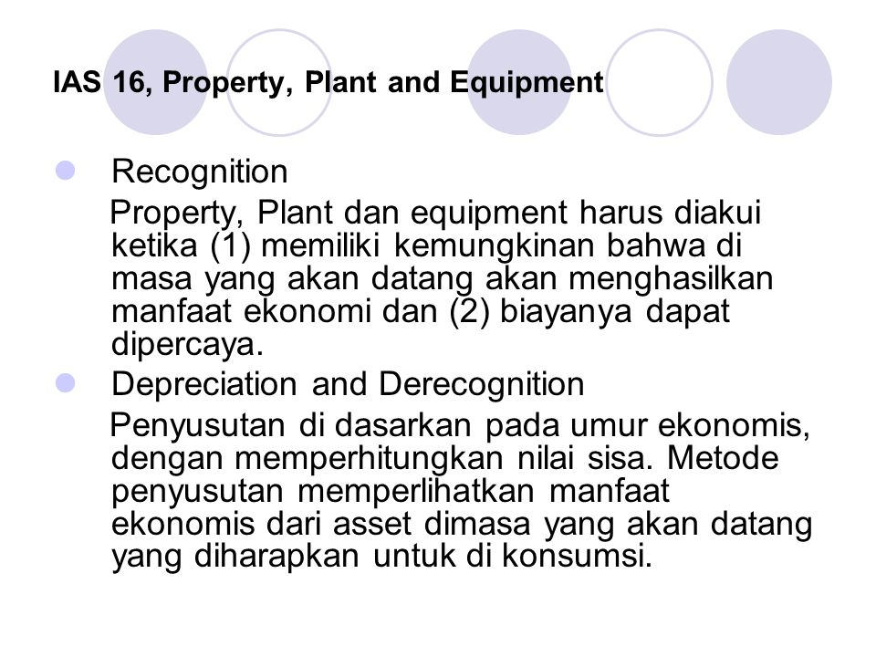 IAS 16, Property, Plant and Equipment