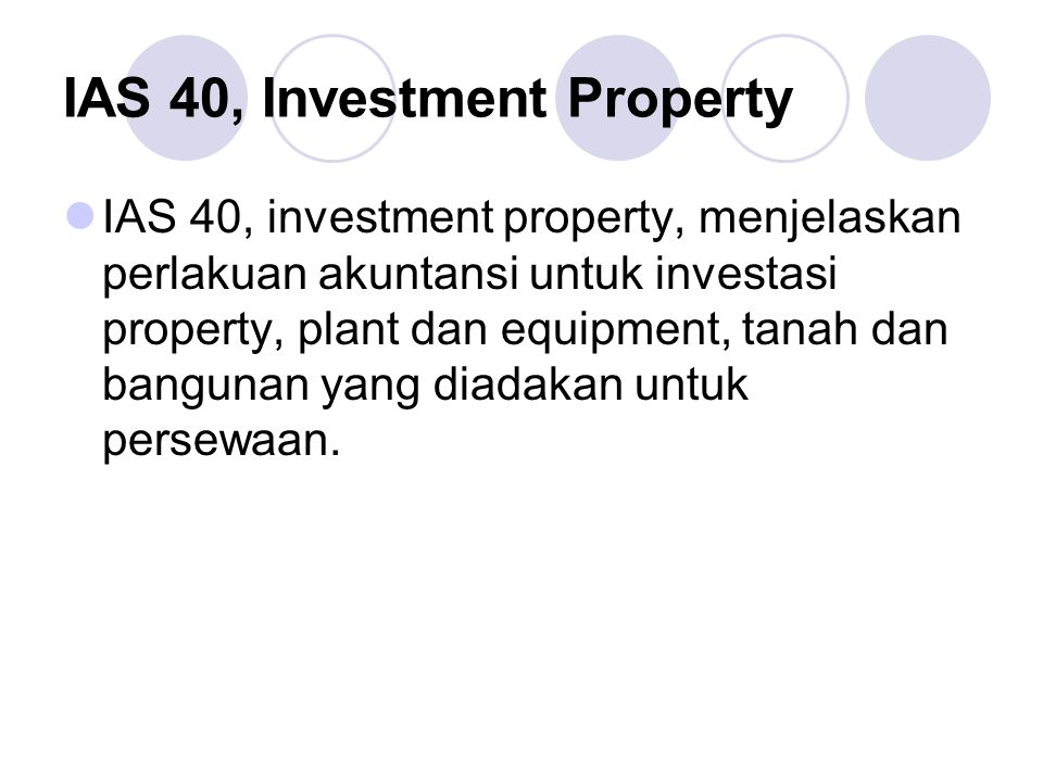 IAS 40, Investment Property