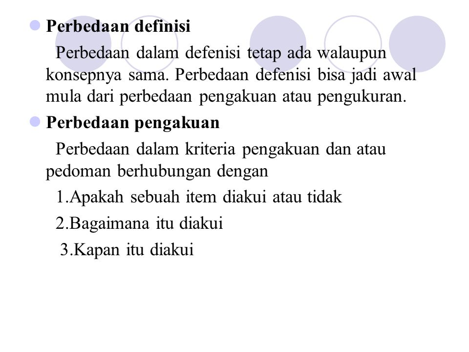 Perbedaan definisi