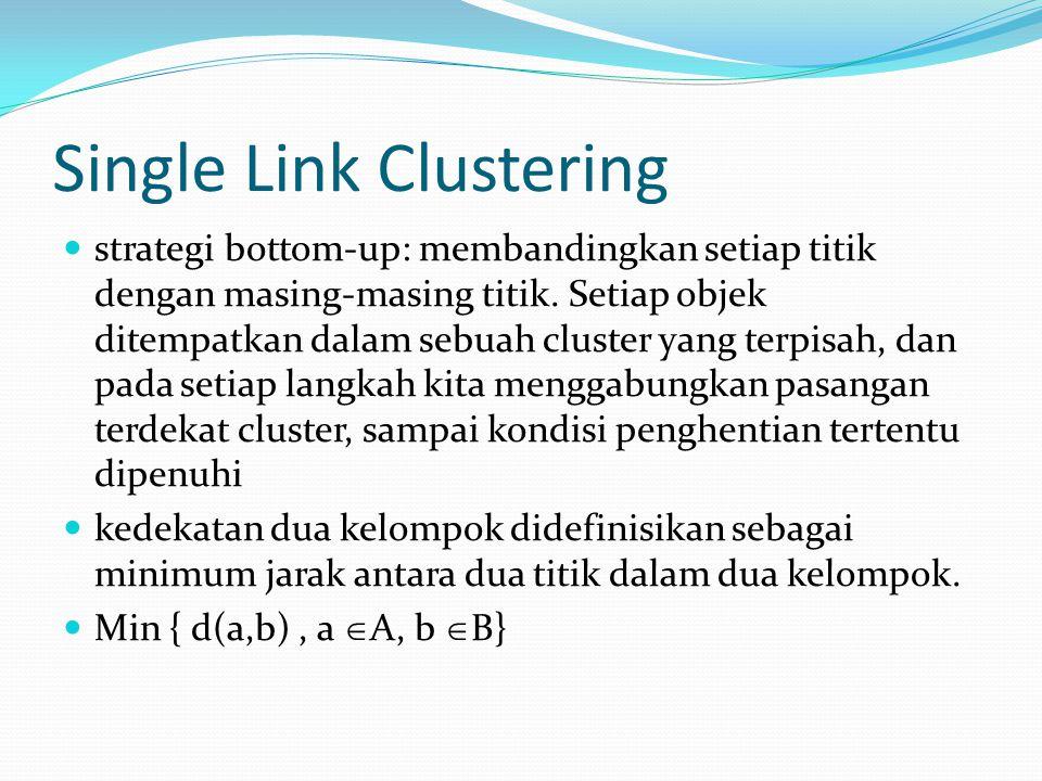 Single Link Clustering