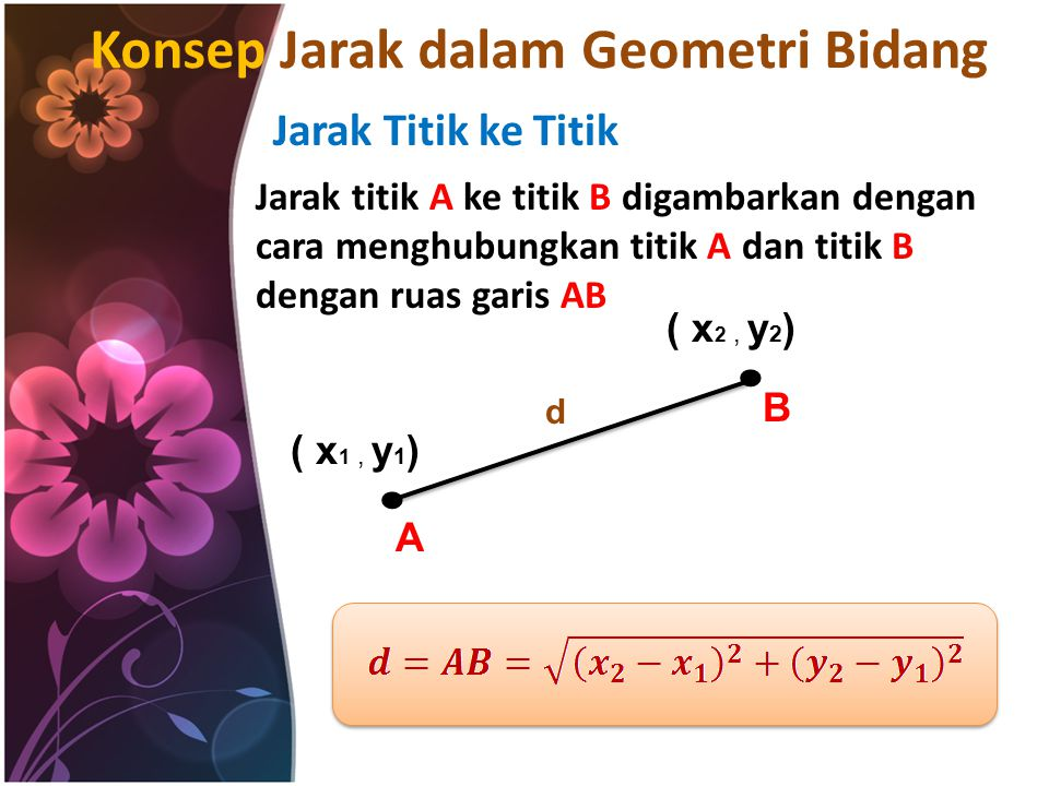 Konsep Jarak dalam Geometri Bidang