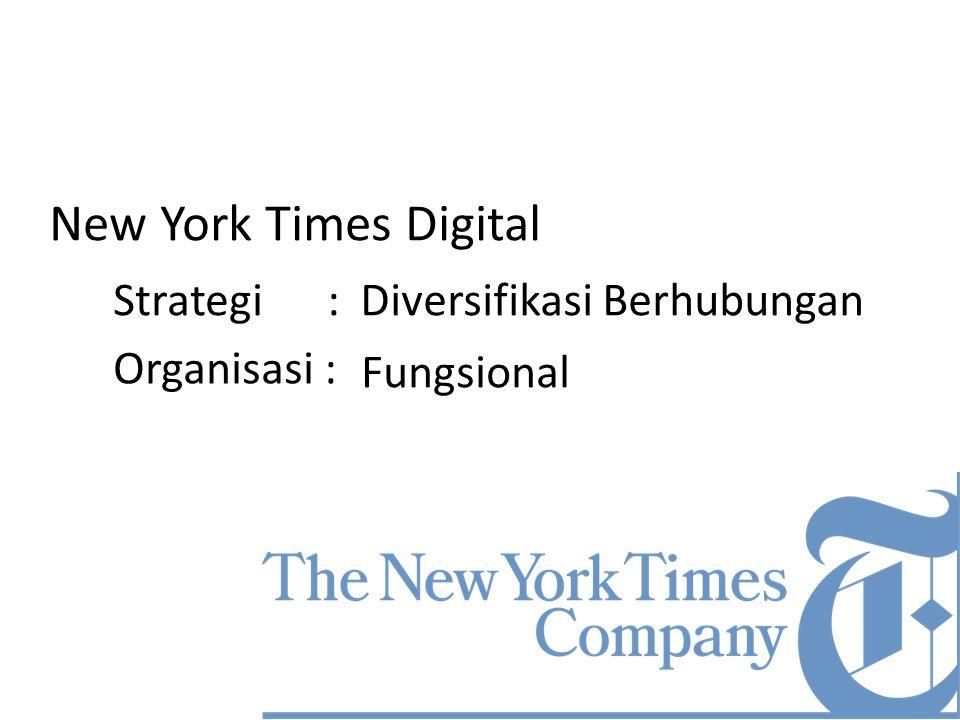 New York Times Digital Strategi : Diversifikasi Berhubungan
