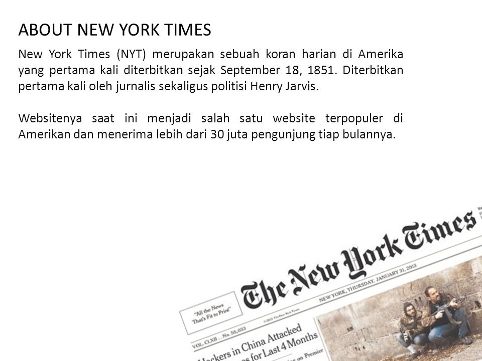 ABOUT NEW YORK TIMES