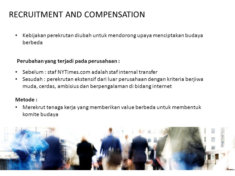 RECRUITMENT AND COMPENSATION