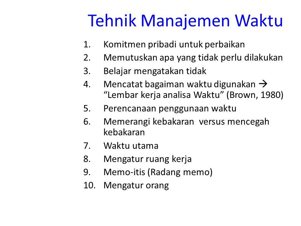 Tehnik Manajemen Waktu