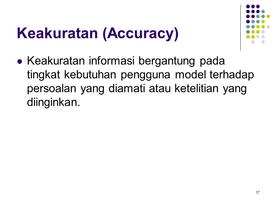 Keakuratan (Accuracy)