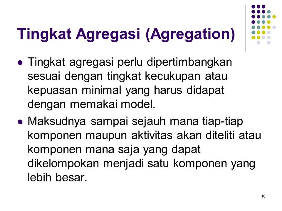Tingkat Agregasi (Agregation)
