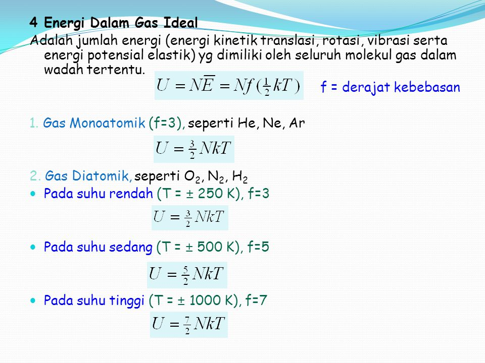 4 Energi Dalam Gas Ideal