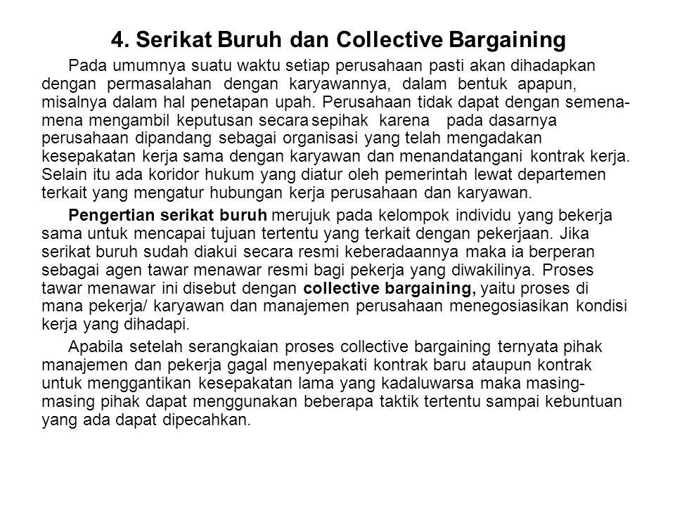 4. Serikat Buruh dan Collective Bargaining
