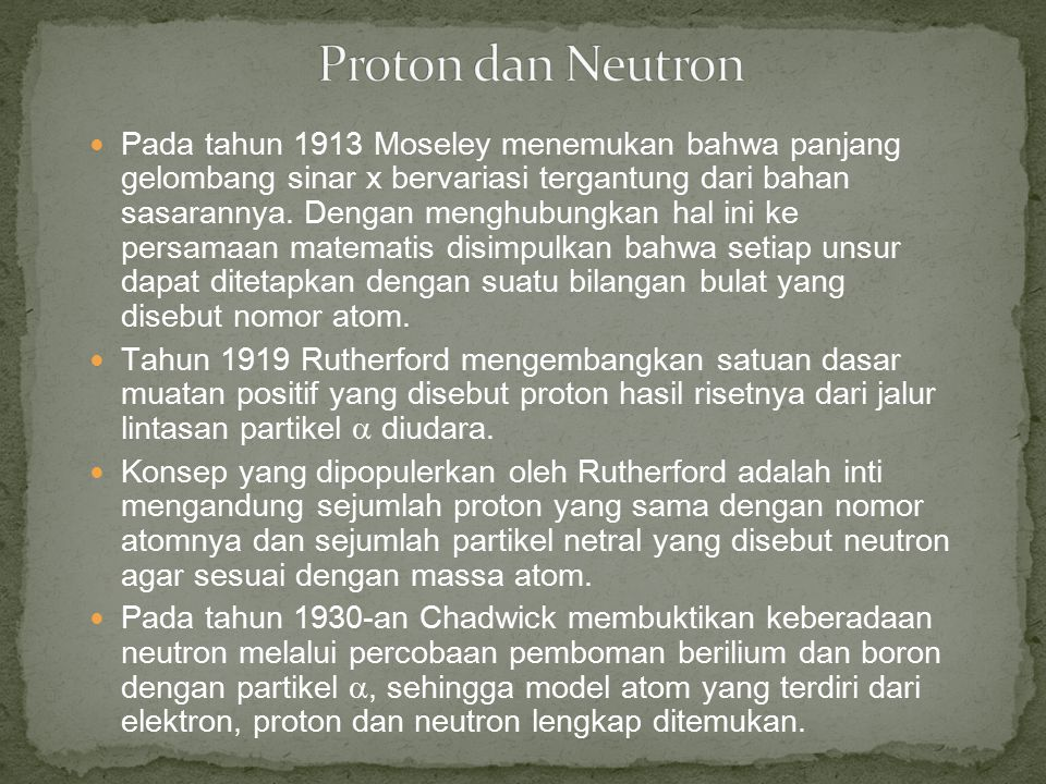 Proton dan Neutron