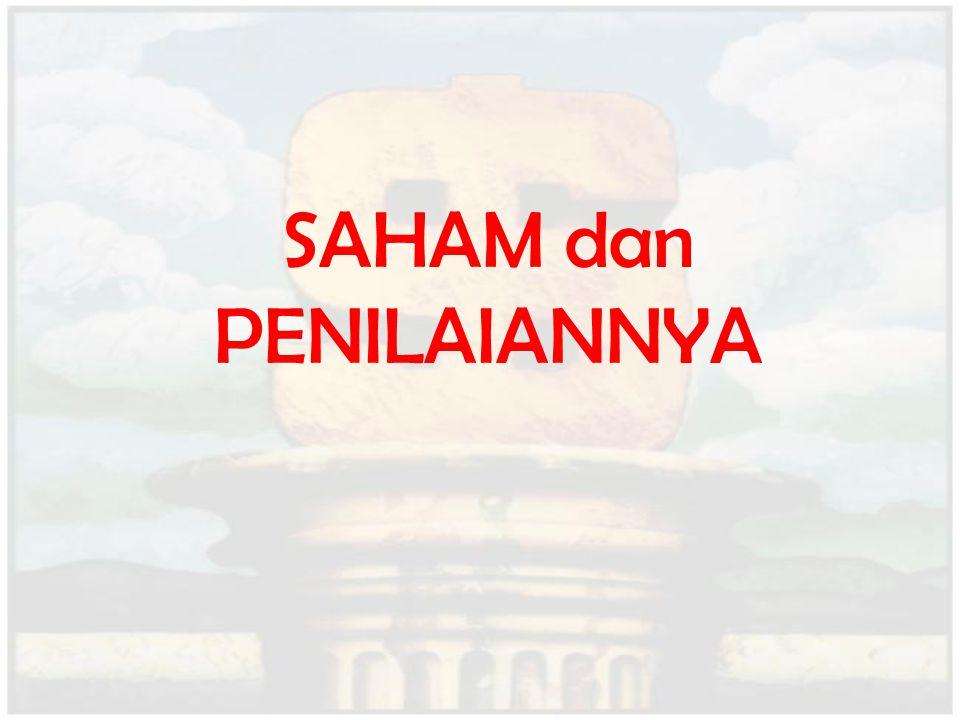 SAHAM dan PENILAIANNYA