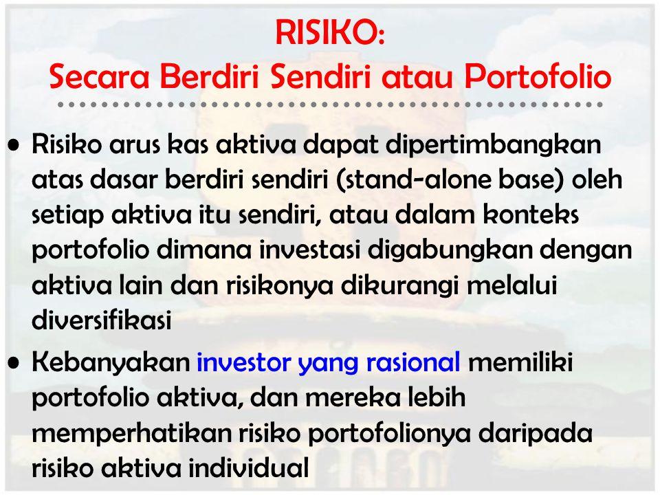 RISIKO: Secara Berdiri Sendiri atau Portofolio
