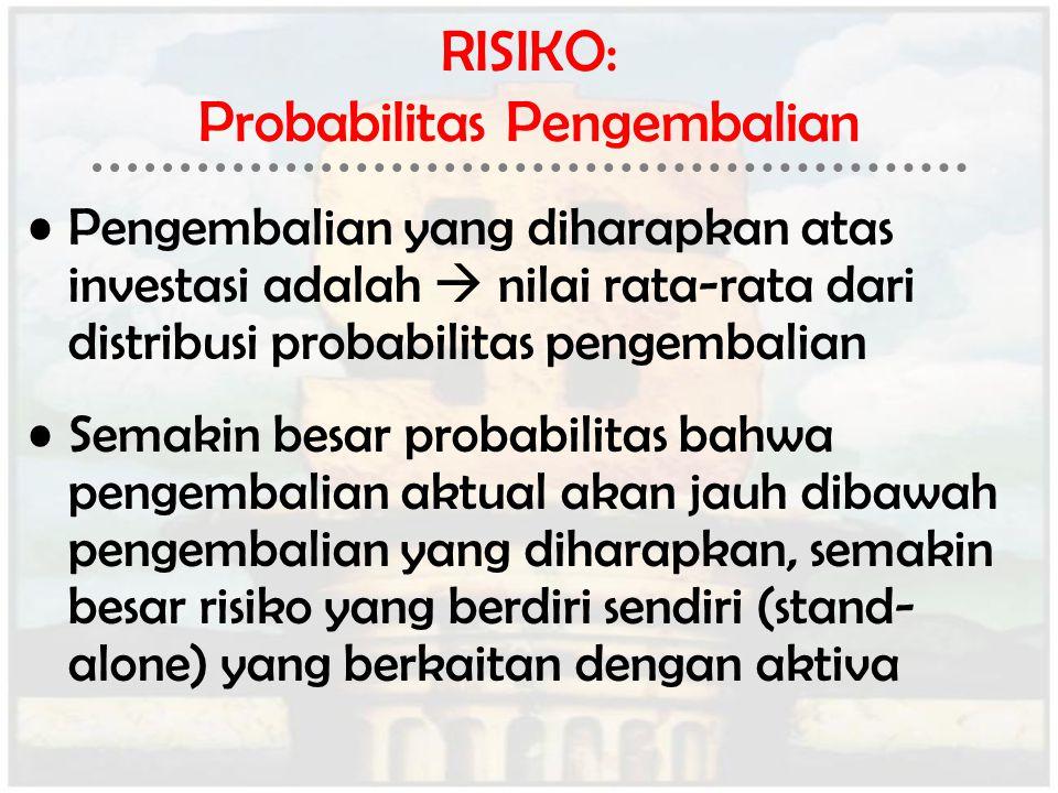 RISIKO: Probabilitas Pengembalian
