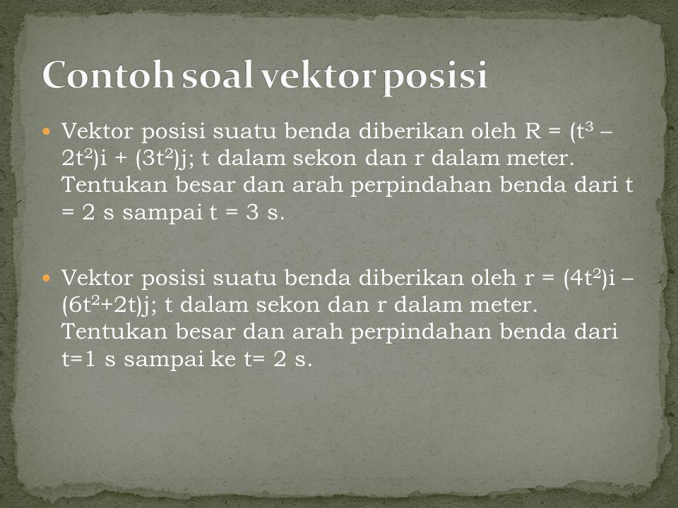 Contoh soal vektor posisi