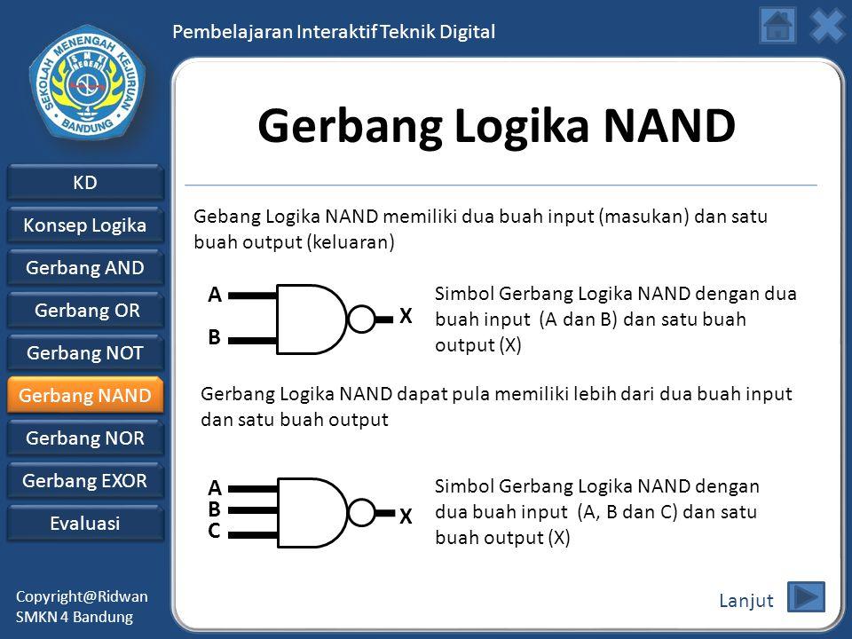 Gerbang Logika NAND A X B A B X C