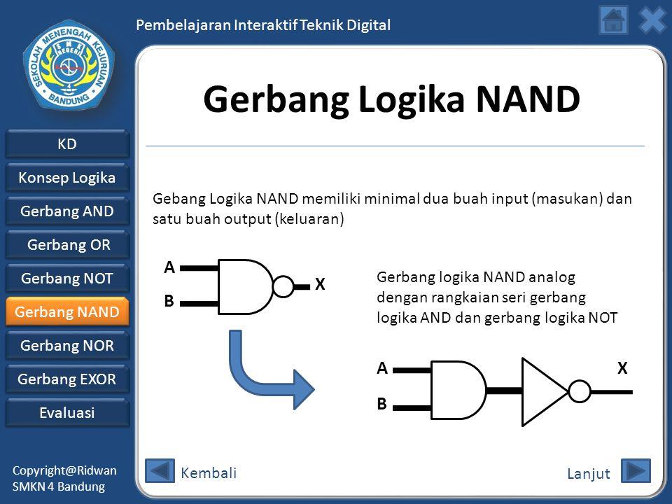 Gerbang Logika NAND A B X A B X
