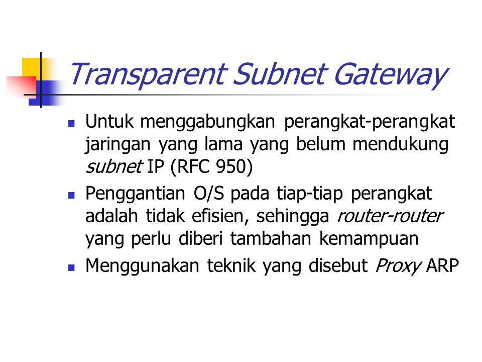 Transparent Subnet Gateway