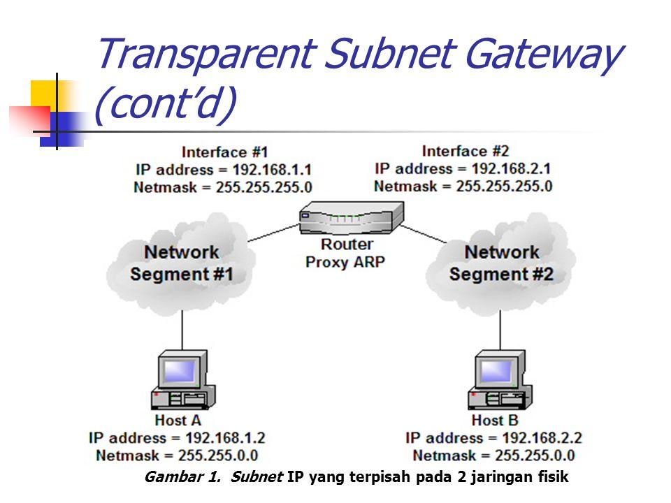 Transparent Subnet Gateway (cont'd)